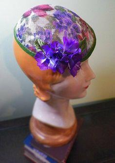 Flowered Fascinator by Maureen Swiertz #millinery #hats #HatAcademy