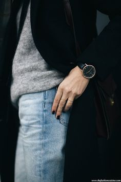 Bleached-forever-21-jeans-mohair-grey-sweater-Kapten-and-Son-watch-outfit-details
