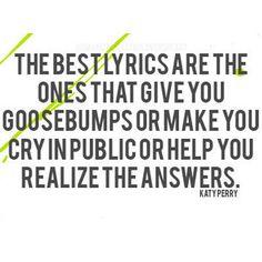 I've cried in public over song lyrics...
