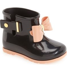 Hlavným Obrázok - Mini Melissa 'Mini cukru' Rain Boot (Walker a batoľatá)