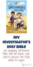 NIV Investigator's Holy Bible When you need to choose a Bible for your child, it's important to find one that's a good fit. This kid-friendly, detective-themed Bible is so engaging, it definitely needs to be one that you consider!