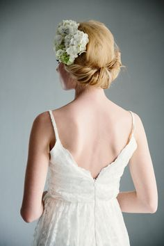 Photo by: LINA ARVIDSSON www.linaarvidsson.se  tekla dresses, hortensia in hair, bridal fashion, lace dress