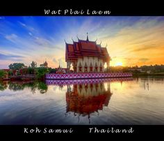 Wat Plai Laem, another stop on the around the island tour of Koh Samui where you can see all the major tourist attractions on Koh Samui. Book all your tickets at Rich Resort reception! Island Tour, Koh Samui, Big Ben, Attraction, Thailand, Reception, Tours, Mansions, House Styles