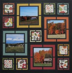 Make your fall photos POP with Mosaic Moments scrapbook layouts! The black frames created with the dies makes the vibrant colors stand out. Click to learn how to create an amazing fall layout.