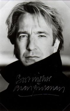 Oh. Hi Alan Rickman.  Nice smoulder you've got there.  Want to read the phonebook to me? War and Peace?  Okay.  I'm good with that.