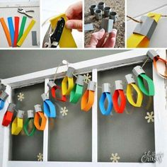 New diy paper garland christmas crafts ideas - Happy Christmas - Noel 2020 ideas-Happy New Year-Christmas Christmas Activities, Christmas Crafts For Kids, Christmas Projects, Winter Christmas, Christmas Lights, Holiday Crafts, Holiday Fun, Christmas Trees, Christmas Paper Chains