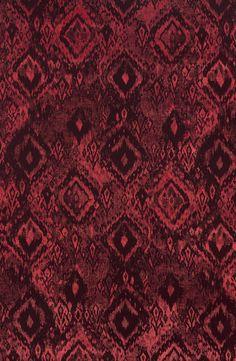 Architex Velvet Textile Upholstery Pattern | Ikat Madder