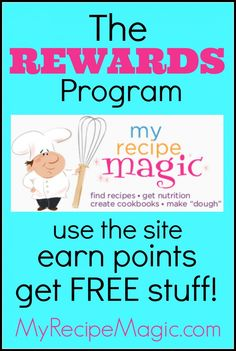 rewards program my recipe magic