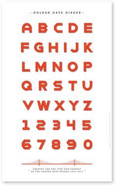 Typeface Golden Gate Girder designed by Studio Hinrichs