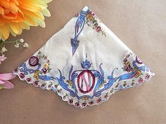 Handkerchief Women's Round Vintage Hankie by SpringJewelryThings
