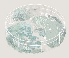 """""""Ueno Planet for Exhibition"""" is a collection of posters and brochures by Japanese designer Haruka Misawa and her office, the Misawa Design Institute. The posters are promotional material for the Ueno zoo in Tokyo and feature the drawings of several islands and pavilions. Misawa employs a reduced..."""