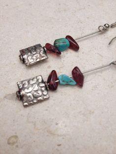Handmade Sterling Silver Gemstone Earrings by GypsiesBitsNBaubles