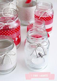 Ghirlanda di Popcorn   progetti creativi: red, pink and neutral..my jars