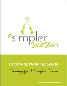 Christmas planning guide