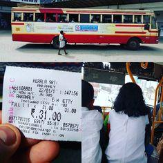 Hoy voy a subir en #bus por #primeravez en #kerala ... He salido de #angamali con dirección a #cochi... #keralabus #indianbus #india #firsttime
