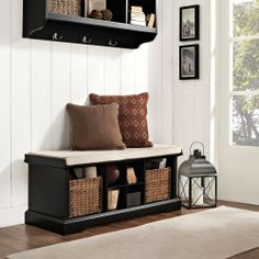 Crosley Brennan Entryway Storage Bench - Black - Indoor Benches at Hayneedle YOU CAN ALSO FIND BENCHES LIKE THIS AT CANADIAN TIRE AND TARGET