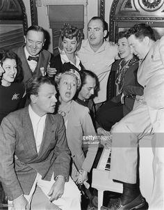 Actors Cary Grant Faye McKenzie Stan Laurel Frances Langford Pat O'Brien Rise Stevens Frank McHugh James Cagney Charlotte Greenwood and Groucho Marx. Hollywood Images, Hollywood Actor, Classic Hollywood, Old Hollywood, Hollywood Icons, Stan Laurel, James Cagney, Laurel Und Hardy, Rosalind Russell