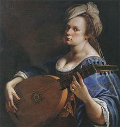 "Artemisia Gentileschi (Italiana, 1593-1656) ""Autoritratto come suonatrice di liuto"" 1615 Curtis Galleries, Minneapolis"