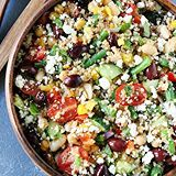 This colorful, protein packed Mediterranean Three Bean Quinoa Salad is loaded with all of my favorites! It is great served as a main dish or side dish! Click @twopeasandpod for the recipe link!  http://www.twopeasandtheirpod.com/mediterranean-three-bean-quinoa-salad/