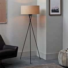 Mid-Century Tripod Floor Lamp - Antique Bronze #westelm