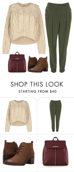 """""""Adventure? Now?"""" by sweet-jolly-looks ❤ liked on Polyvore featuring Moschino Cheap & Chic, Topshop, Franco Sarto, Red Herring, cute, croptop, trousers and zappos"""
