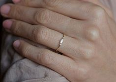 Diamond Engagement Ring Three Diamond Ring Three by MinimalVS