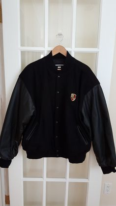 *SOLD*Leather Mens Xl Wool Bomber Varsity Leather Jacket. A best-selling blazer with classic charm! The Leather Mens Xl Wool Bomber Varsity Leather Jacket is almost sold out...See all PORSCHE jackets on Tradesy