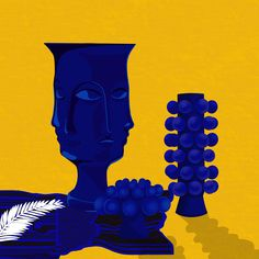 #illustration #illustrationdigital #ceramic #klein #surréalisme