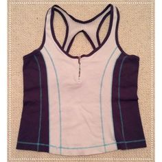 Bebe Sport Tank Top! Bebe Sport tank top - perfect for athletes and fitness lovers. It's a size medium but it runs small and it's in great condition! It has a half zip in the front and it has a built in sports bra. bebe Tops Tank Tops