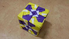 415 Origami  종이접기 (큐브 박스)  Cube 색종이접기  摺紙 折纸 оригами 折り紙  اوريغامي Origami Cube, Modular Origami, Origami Folding, Origami Paper, Origami Instructions, Origami Tutorial, Paper Flowers Diy, Paper Crafts, Drawings