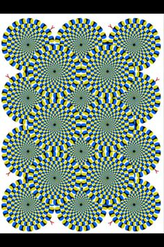 this is one crazy illusion! look at it closely, is it moving or is it your eyes tricking you?