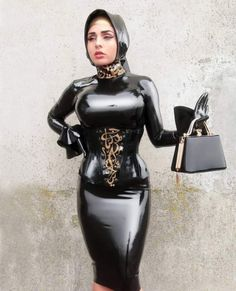 Sexy Latex, Latex Wear, Latex Dress, Hijab Jeans, Rubber Dress, Latex Costumes, Latex Lady, Latex Girls, Tights Outfit