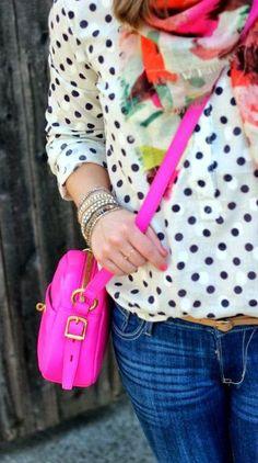 Kleidung & Accessoires New Beautiful Purple Polka Dot Ladies Scarf Uk Seller