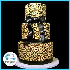 Sweet 16 Leopard Print Cake