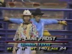 Lane Frost - 87 NFR, Rd 9 Bull Riding