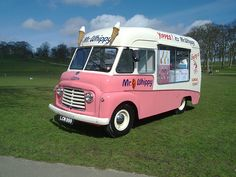Ice cream van remember this  Run for the ice,cream man I can here the music now.