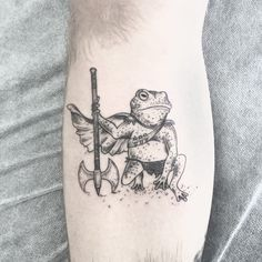 Frogs are great material for tattoo designs. Why is this you ask? In the world today there are over 4,800 different species of frogs — all with unique color schemes and designs. And that's only the number that we've discovered so far. There are no doubt hundreds of undocumented species out there in the forests, creeks, and jungles just waiting to be discovered. Below is collection of some amazing examples of frog tattoo designs for your viewing pleasure. This blue frog With a name like…