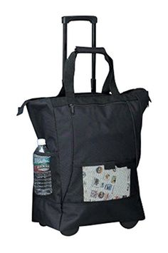 Bellino On the Go Rolling Shopping Tote, Black *** You can find out more details at the link of the image.