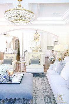 Transitional Family Room Reveal - Randi Garrett Design