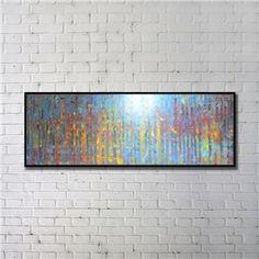 Leinwandbild Abstrakt Bunt Digitaldruck mit Schwarze Rahme-A