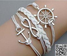 Rudder Bracelet Anchor Bracelet Infinity Bracelet by Carlydiy, $4.99