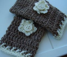 """Simple & Easy to make get ready for Autumn with these Crochet """"Coffee & Cream"""" Wrist-Warmers @Craftsy"""