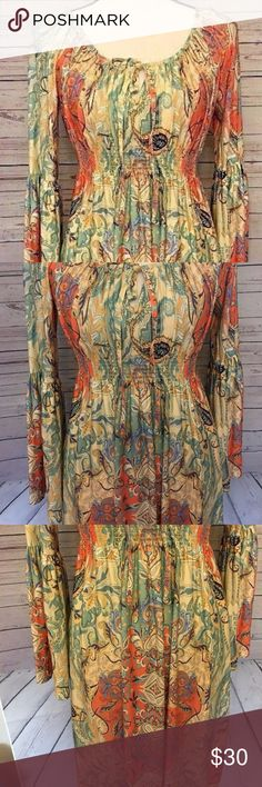 Boston Proper Women's Size 4 paisley print dress Gently used No flaws  Bust 17 in  Length 37 in Boston Proper Dresses Midi