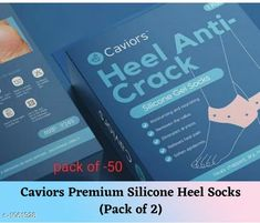 Orthopedics Caviors Premium Silicone Heel Socks(Pack of 2)  *Product Name* Caviors Premium Silicone Heel Socks  *Brand Name* Caviors  	   *Product  Type* Silicone Heel Socks  *Material* Silicone  *Product Description* Protects heel bone from extreme pressure, fatigue & strain, prevents thickening of heel skin, keeps heel safe from blisters, chipped skin, corn and cracked feet. Provides hydration treatment to repair your dry, painful, hard and cracked heel .These socks can also be used with foot cream.Relief Pain.  *Package Contains* It Has 2 Pack of Caviors Silicone Heel Socks  *Sizes Available* Free Size *   Catalog Rating: ★4.2 (411)  Catalog Name: Caviors Premium Choice Orthopedic Silicone Heel Socks Vol 1 CatalogID_129660 C125-SC1569 Code: 162-1061928-