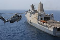 File photo shows a U.S. Marine Corps CH-53E Super Stallion helicopter as it prepares to land aboard the USS Mesa Verde. U.S. Navy Photo