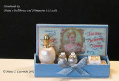 Dollhouse French Perfume shop display made of by mettelaurendz
