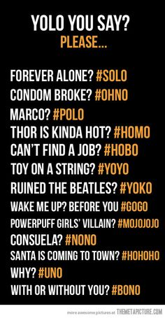 funny YOLO words synonyms