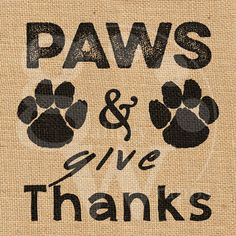 Paws & Give Thanks Burlap Print Dog Inspired by GalleryWrapps