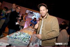 Actor Matt Lauria fills a bag of supplies for an Operation Gratitude box during the premiere of DIRECTV's 'The Fighting Season' from Executive Producer Ricky Schroder at Siren Studios on May 12, 2015 in Hollywood, California. (Photo by Rachel Murray/Getty Images for DIRECTV)