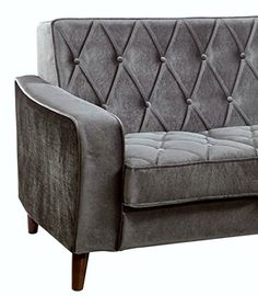 TOV Furniture Bowery Petite Velvet Sofa, Grey  http://www.furnituressale.com/tov-furniture-bowery-petite-velvet-sofa-grey/